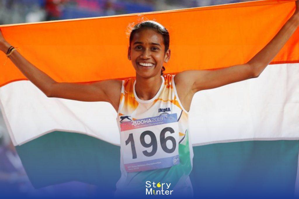 """Indian Sportswomen """"PU Chitra"""""""