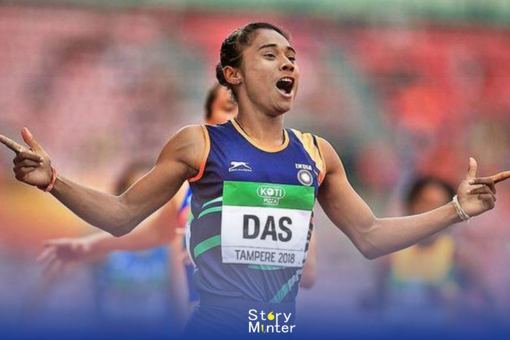 """Indian Sportswomen """"Hima Das"""""""