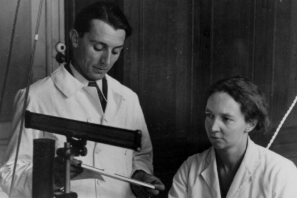Irène Joliot Curie and Frédéric Joliot