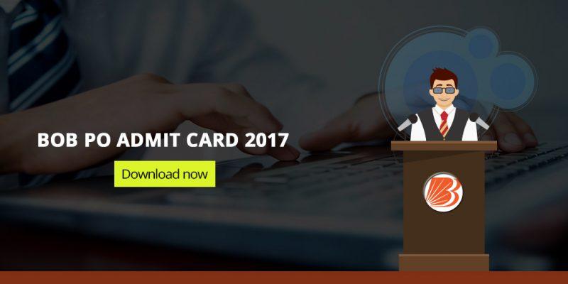 Bank of Baroda PO Admit Card 2017