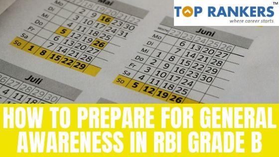 How to Prepare for General Awareness in RBI Grade B