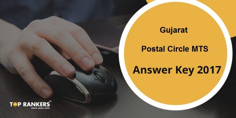 Gujarat Postal Circle MTS Answer Key 2017