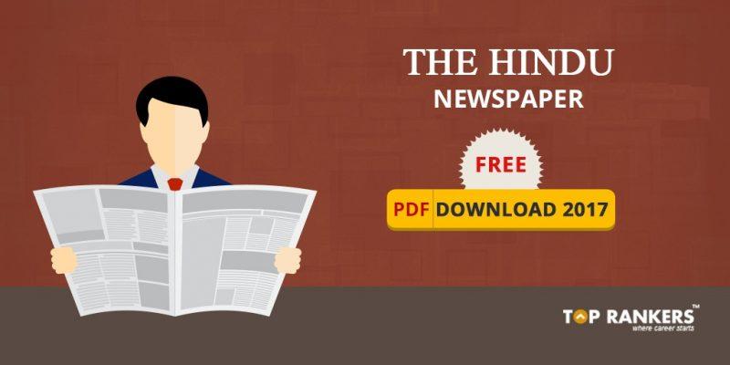 The Hindu Newspaper editorial Free PDF Download 2018