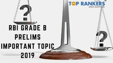RBI Grade B Prelims Important Topic 2019