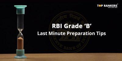 RBI Grade B Last Minute Preparation Tips