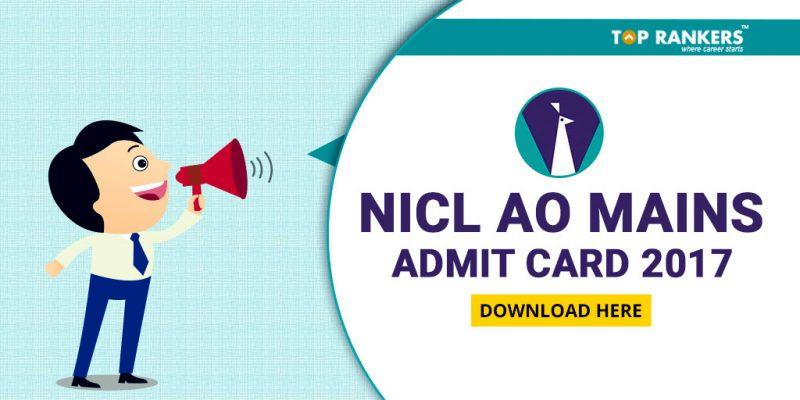 NICL AO Mains Admit Card 2017