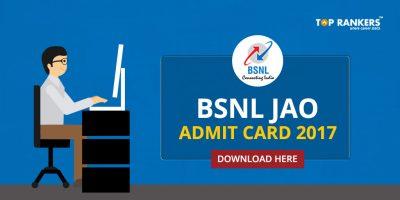 BSNL JAO Admit Card Released- Download BSNL JAO Hall Ticket Here