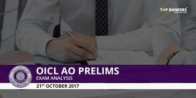OICL AO Prelims Exam Analysis 2017- 22nd October 2017 Slot 1