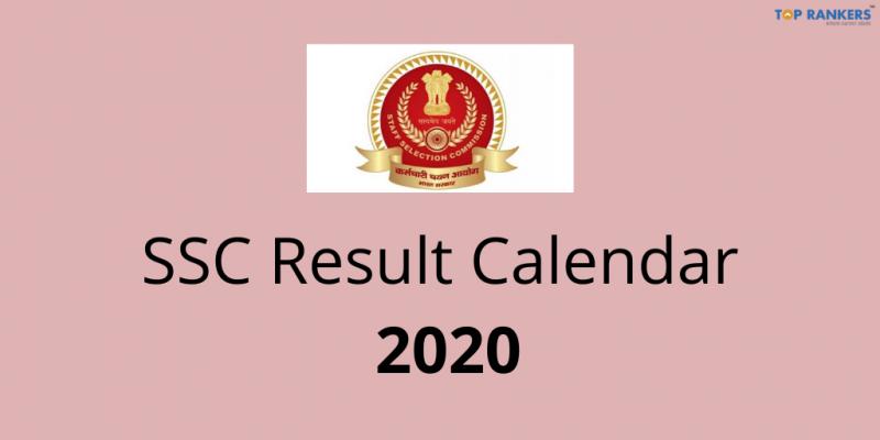 SSC Result Calendar