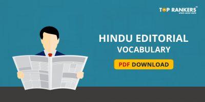 Hindu Editorial Vocabulary 30th October 2017