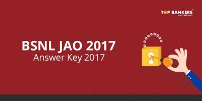 BSNL JAO Answer Key 2017-18 – Check BSNLJAO Response Sheet now