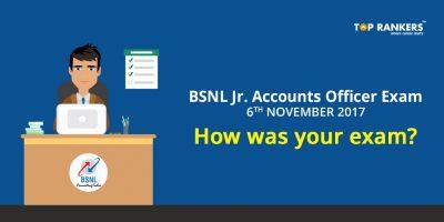 BSNL JAO 2017 Exam Analysis 6th November- How was your exam?