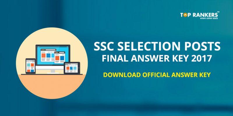 SSC Selection Posts Final Answer key 2017