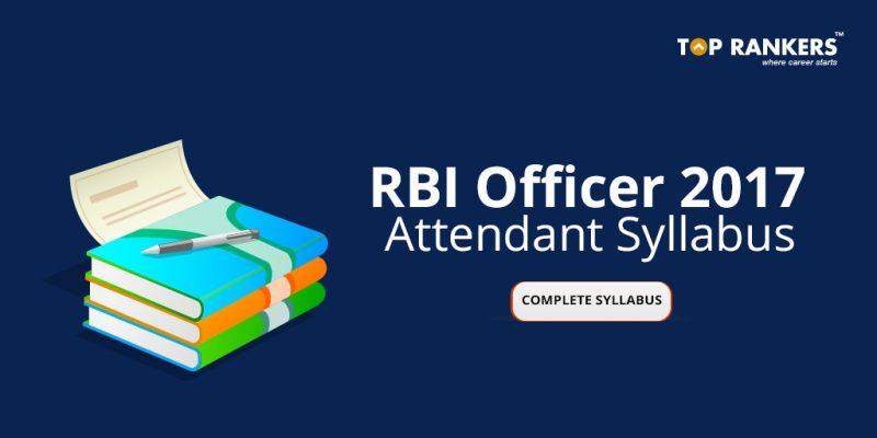 RBI Office Attendant Syllabus 2017