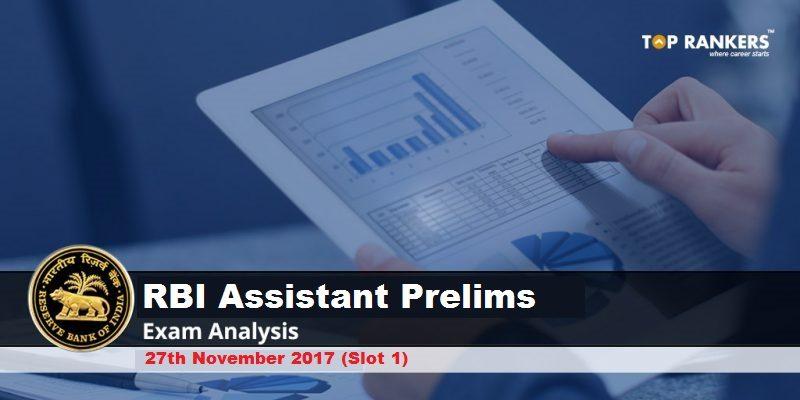 RBI Assistant Prelims Exam Analysis 27th November 2017 Shift 1