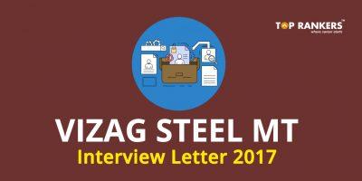 Vizag Steel MT Interview Letter 2017:Vizag Steel MT Admit Card & Schedule