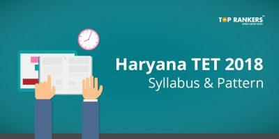 Haryana TET Syllabus & Pattern 2018