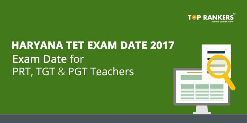 Haryana TET Exam Date 2017