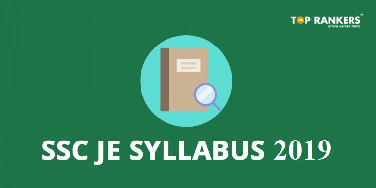 SSC JE Syllabus 2019