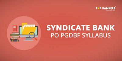 Syndicate Bank PO Syllabus- Download Complete  PGDBF  Syllabus PDF