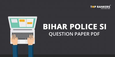 Bihar Police SI Question Paper For Practice