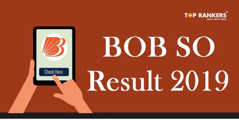 Bank of Baroda SO Result 2019