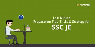 SSC JE Last Minute Preparation Tips, Tricks & Strategy 2020