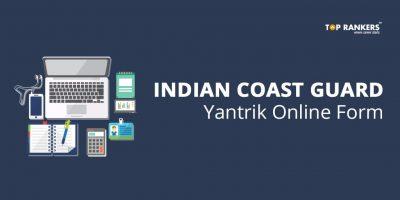 Indian Coast Guard Yantrik Online Form