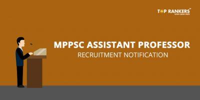 MPPSC Assistant Professor Recruitment Notification