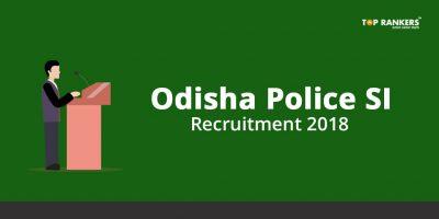 Odisha Police SI Recruitment 2018