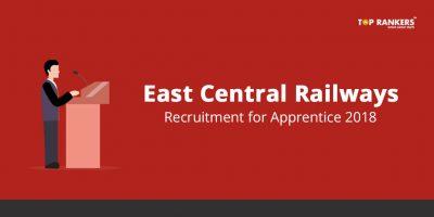East Central Railways Apprentice recruitment 2018 – Apply Here