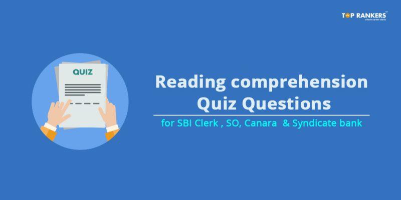 Reading Comprehension Quiz Questions