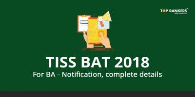 TISS BAT Notification 2018 For BA – Notification, complete details