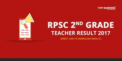 RPSC 2nd Grade Teacher Result 2017