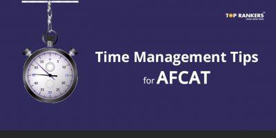 Time Management tips for AFCAT