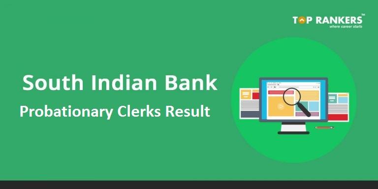 South Indian Bank Clerk Result