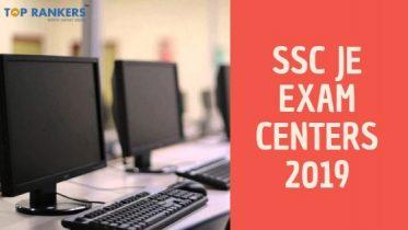 SSC JE Exam Centers 2019