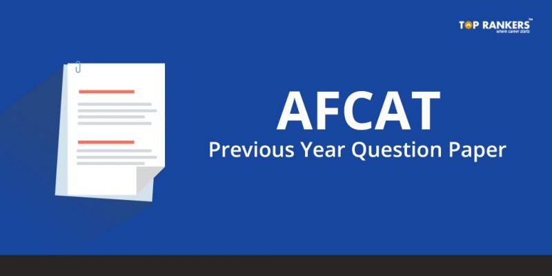 AFCAT Previous Year Question Paper