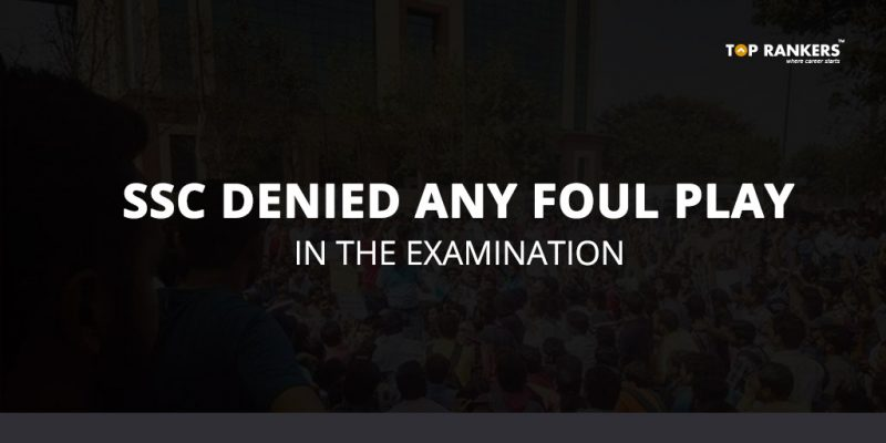 SSC denied foul play in the examination