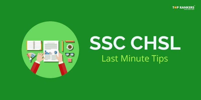 SSC CHSL Last minute tips