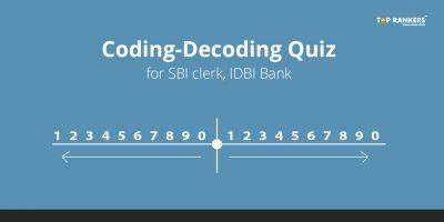 Coding-Decoding Quiz for SBI Clerk, IDBI Bank