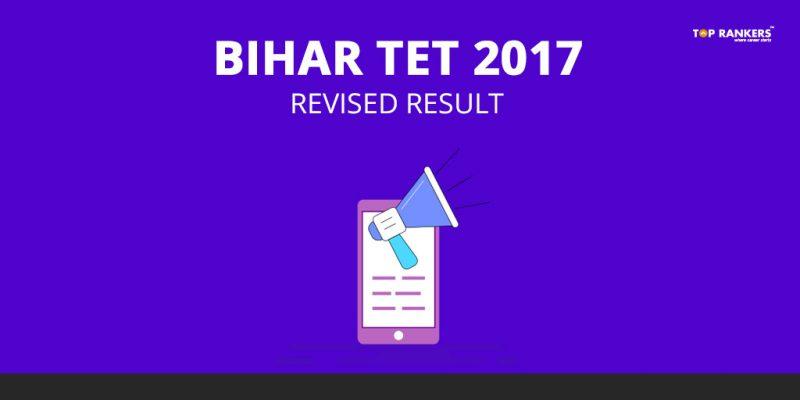 Bihar TET Result 2017 - Revised Result Declared