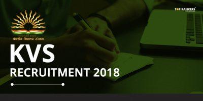 KVS Recruitment 2018 – Last Date for Online Application Correction!