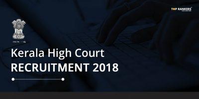 Kerala High Court Recruitment 2018 – Apply Online for Programmer Posts