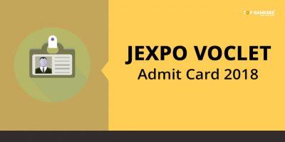 JEXPO VOCLET Admit Card 2018