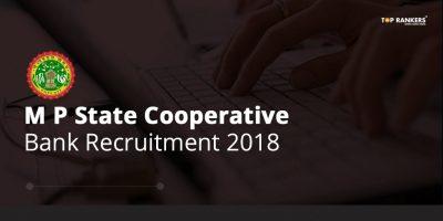 Madhya Pradesh State Cooperative Bank Recruitment 2018