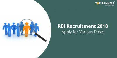 RBI Recruitment 2018 | Recruitment for Various posts