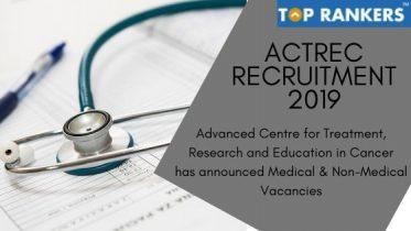 ACTREC Recruitment 2019 –  Apply Online for 190 vacancies