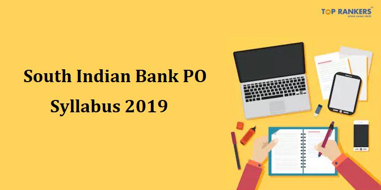South Indian Bank PO Syllabus