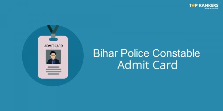 Bihar Police Constable Admit Card